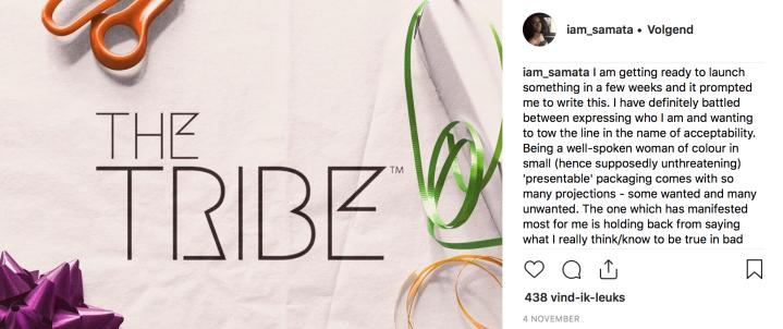 Samata's Instagram post